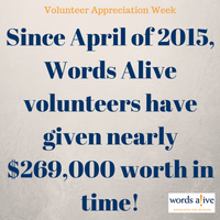 Volunteers gave $269,000 worth in time in 2015!