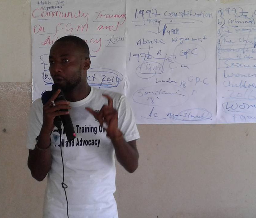 Omar Jammeh  Director of Just Act Gambia leading the training