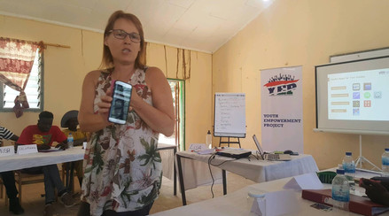 Liz promoting the use of useful apps