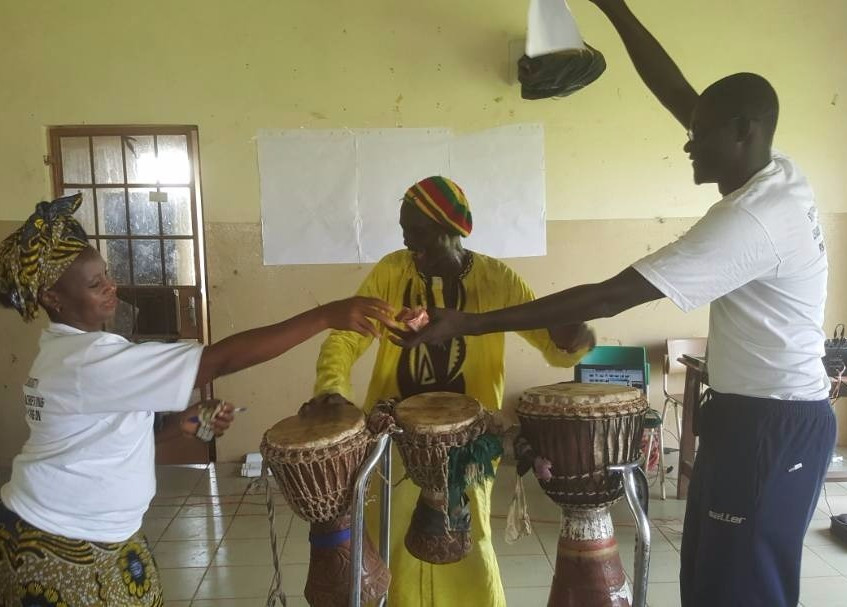 Georgetonian Taka Titi spreads the message of the role of the young people in FGM through drumming and song