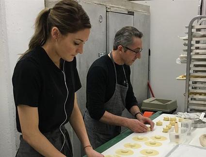 Family making fresh Tortelloni