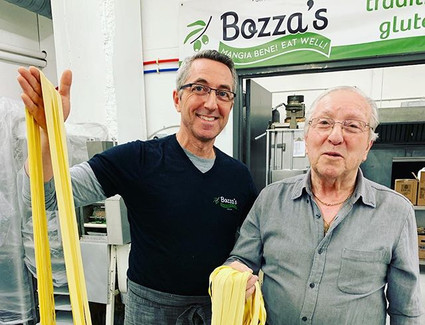 Two generations of pasta makers!