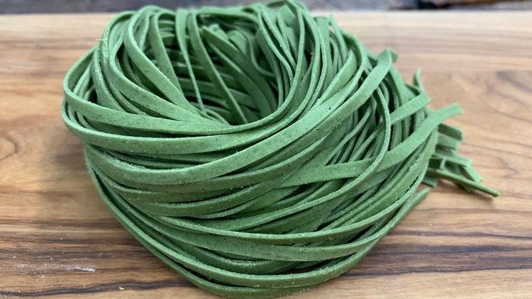 Spinach Linguine (vegan)