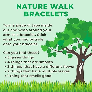 Instruction for creaing nature walk bracelets