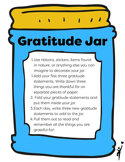 Instructions for creating gratitude jars