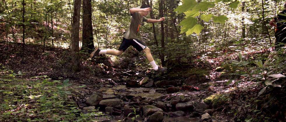 Big leap over the creek!