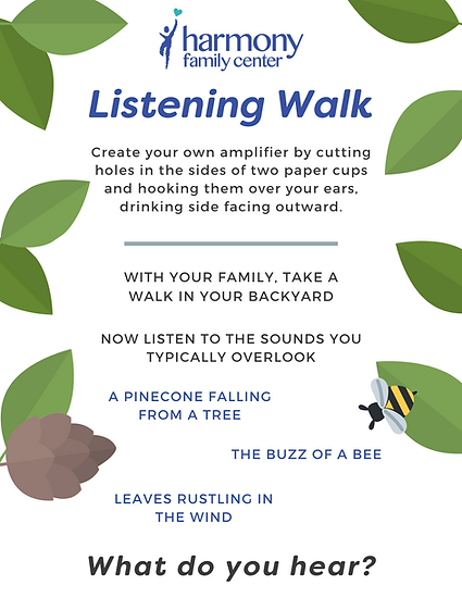 Listening walk activity infographic