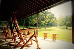 Lodge porch Montvale