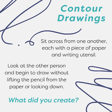 Instructions for creating contour drawings craft activity