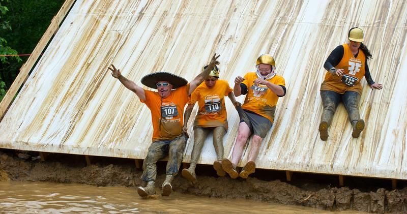 Sliding into the mud hole!