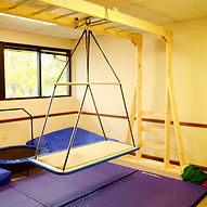 The new somatosensory room at the Therapeutic Services offie in Knoxville features mats, pads, and a jungle gym