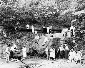 1800s era image of people enjoying Montvale Springs