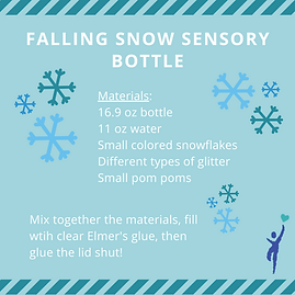 Instructions on how to crate a Fallng Snow Sensor Bottle craft