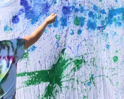 Splash painting at Montvale