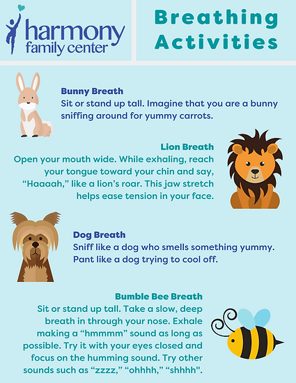 Harmony breathing activities with different animals