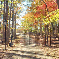 The gated entry to Montvale where adventure based therapy is offered