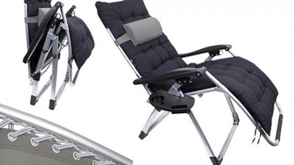 Shangri La Zero Gravity  Chair,Side Table,Pillow Suede