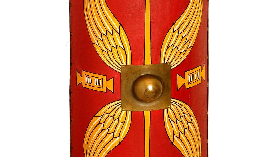 Roman Shield (Scutum) With Leather Belt