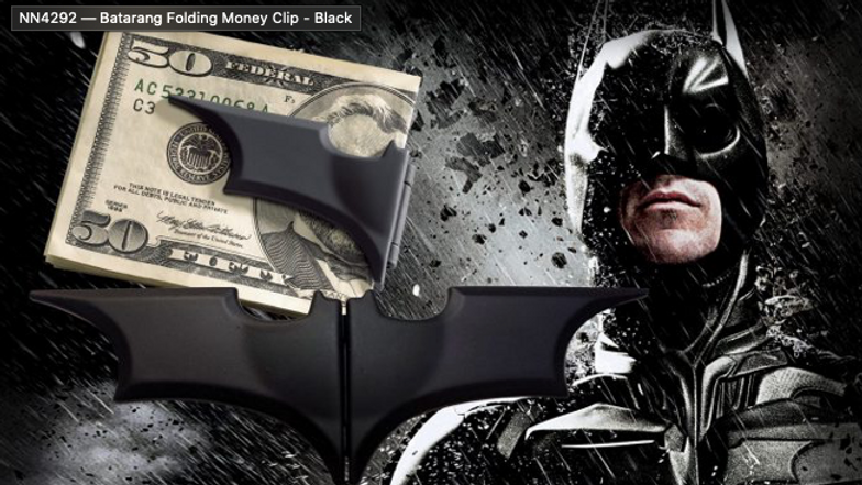 DC - Batarang Folding Money Clip – Black