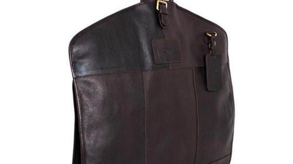 Leather Foldable Suit Carrier