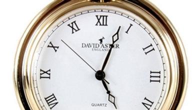 Gold Brushed Quartz Full Hunter Pocket Watch. 45mm diameter