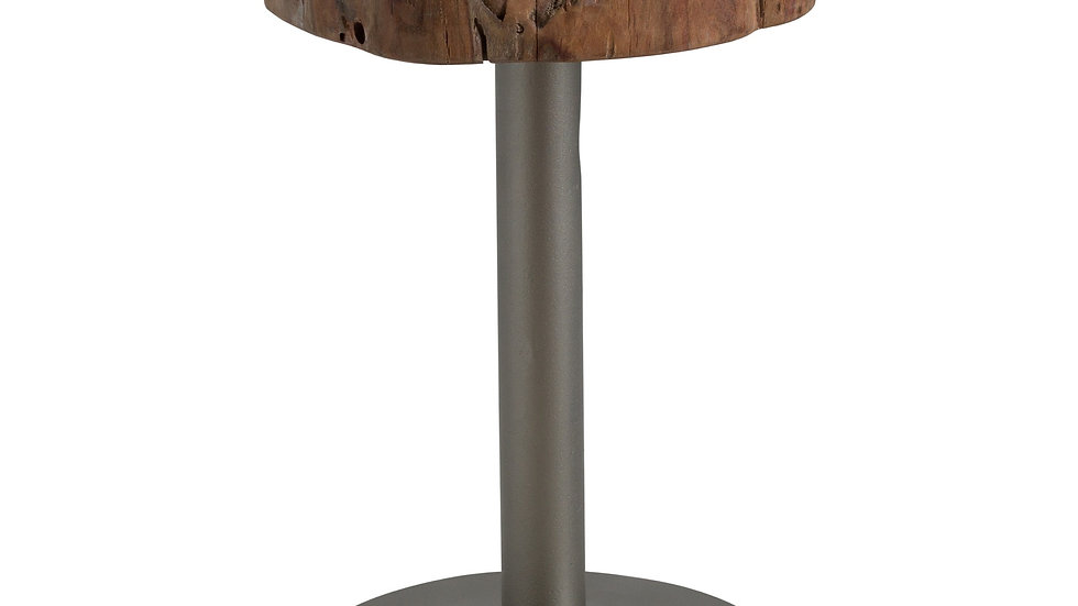 Live Edge Tree Slice Side Table