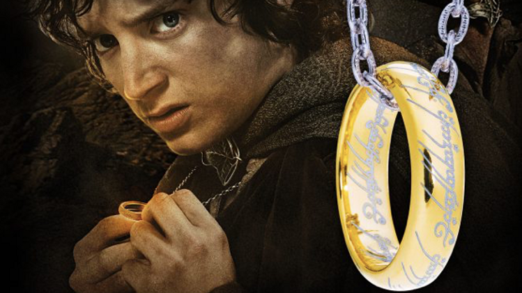 Lord Of The Rings - The One Ring – Etched Silver with Chain