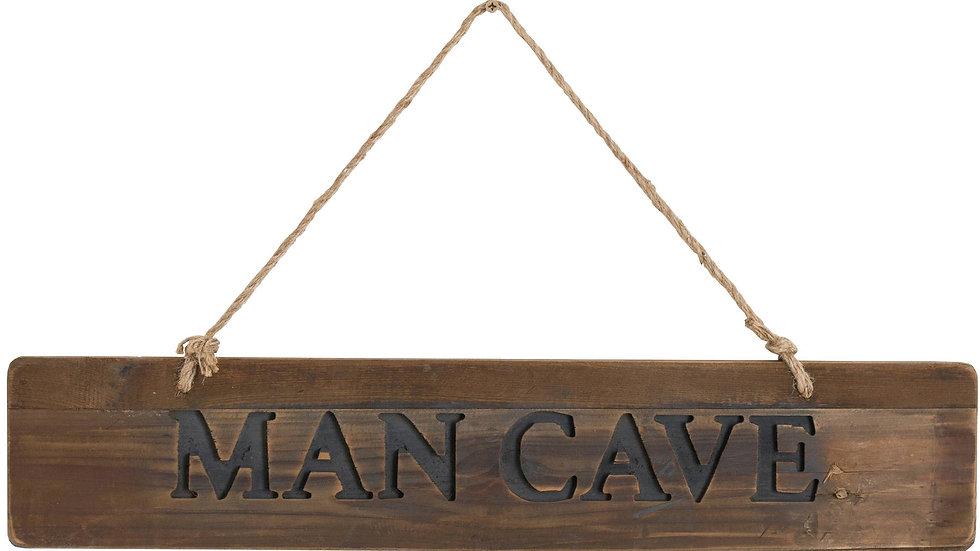Man Cave Rustic Wooden Message Plaque 65cm