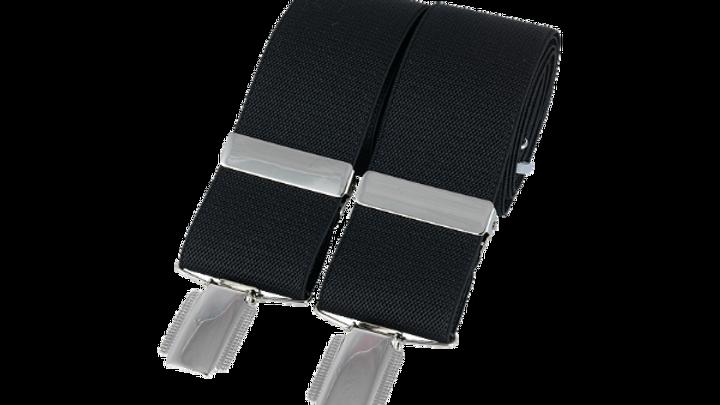 Plain 35mm silver clip braces