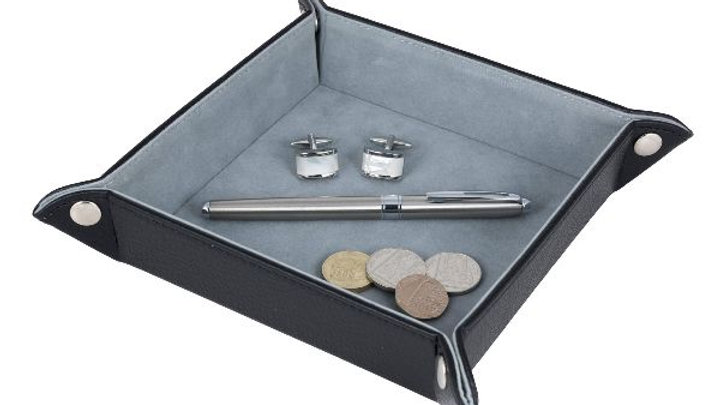 Accessory Valet Tray - Black Leatherette