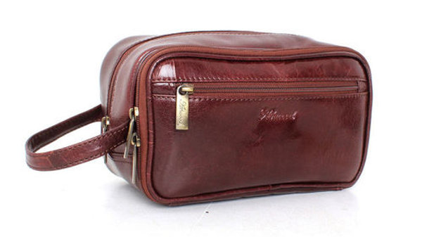 Chelsea Chestnut Leather Wash Bag