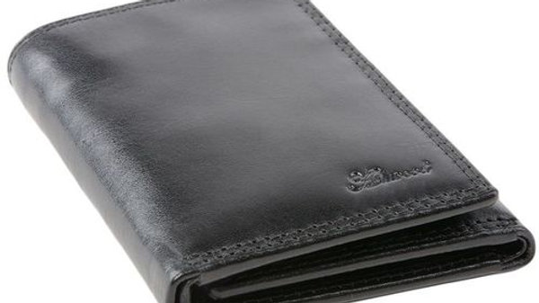 Chelsea Classic Black Trifold Leather Wallet