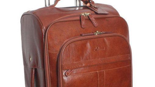 Knightsbridge Tan Leather Cabin Trolley