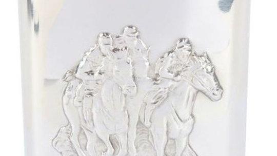 Hip Flask Horseracing Design - 6oz