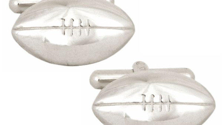 Rugby Ball Sterling Silver Cufflinks