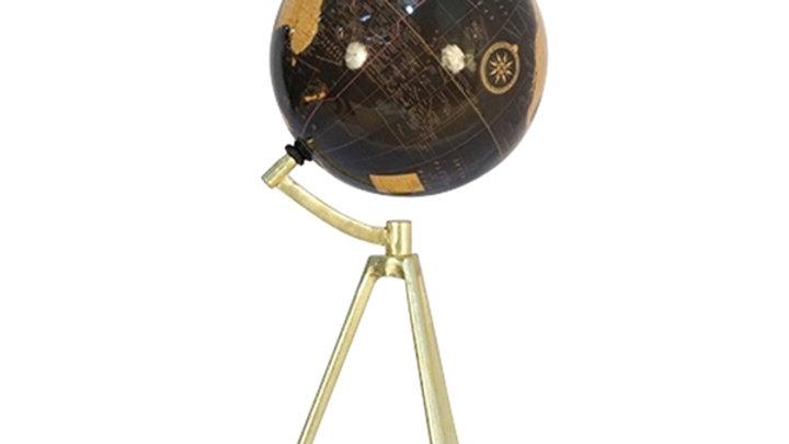 Baret Globe On Tripod Base - Antique Brass