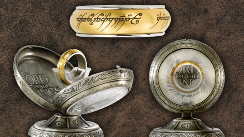 Lord Of The Rings - One Ring Spinning Stainless Steel — Gold