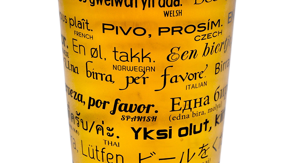 Pint Glass-How To Order A Beer in 26 Languages