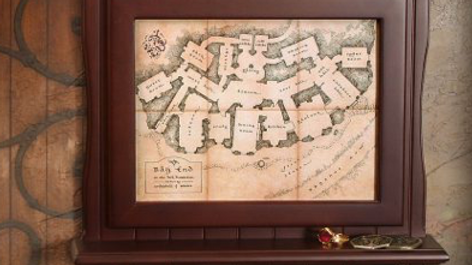 TheHobbit - Bag End Map Plaque Key Holder