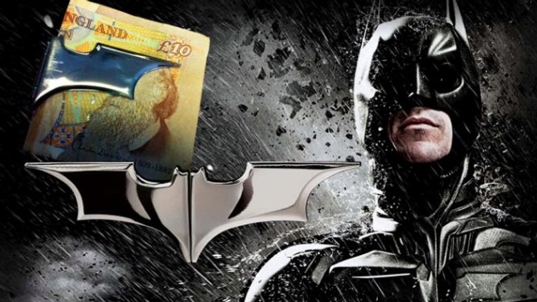 DC - Batarang Money Clip – Dark Chrome