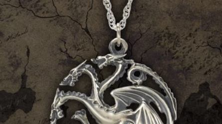 Game Of Thrones - Targaryen Pendant Sterling Silver