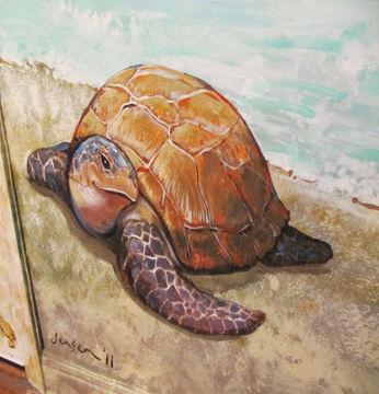 Portland muralist Nate Jensen - Ocean oasis bedroom mural