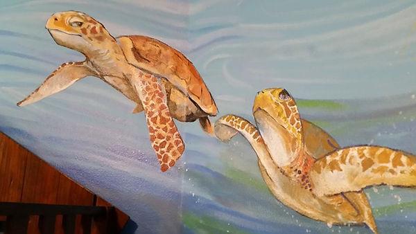 Portland muralist Nate Jensen - Under the sea boys bedroom mural