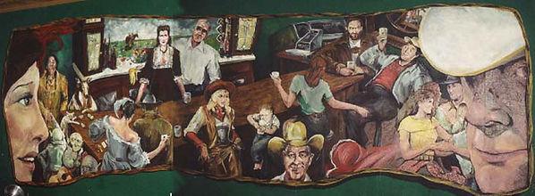 Portland muralist Nate Jensen - Friendly Bar mural