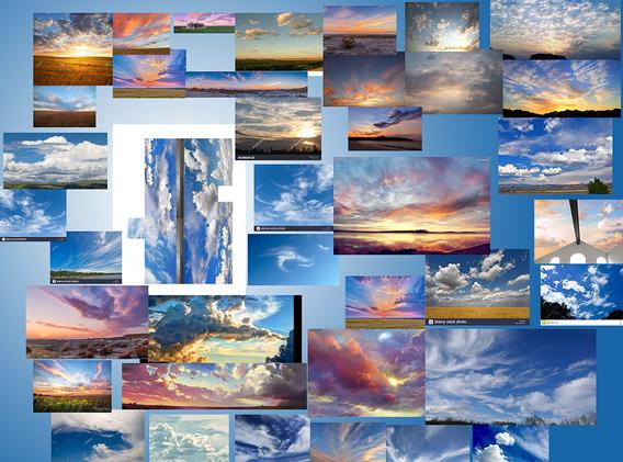 Cloud Ceiling Mural Palette