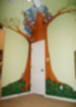 Portland muralist Nate Jensen - Tree girls bedroom mural