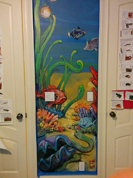 Portland muralist Nate Jensen - Under the sea boys bedroom mural