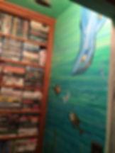 Portland muralist Nate Jensen - Where the Wild Things Are media closet mural