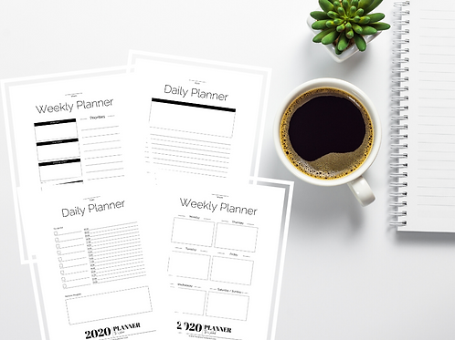 Daily & Weekly Wokebook Planner Refill Pages