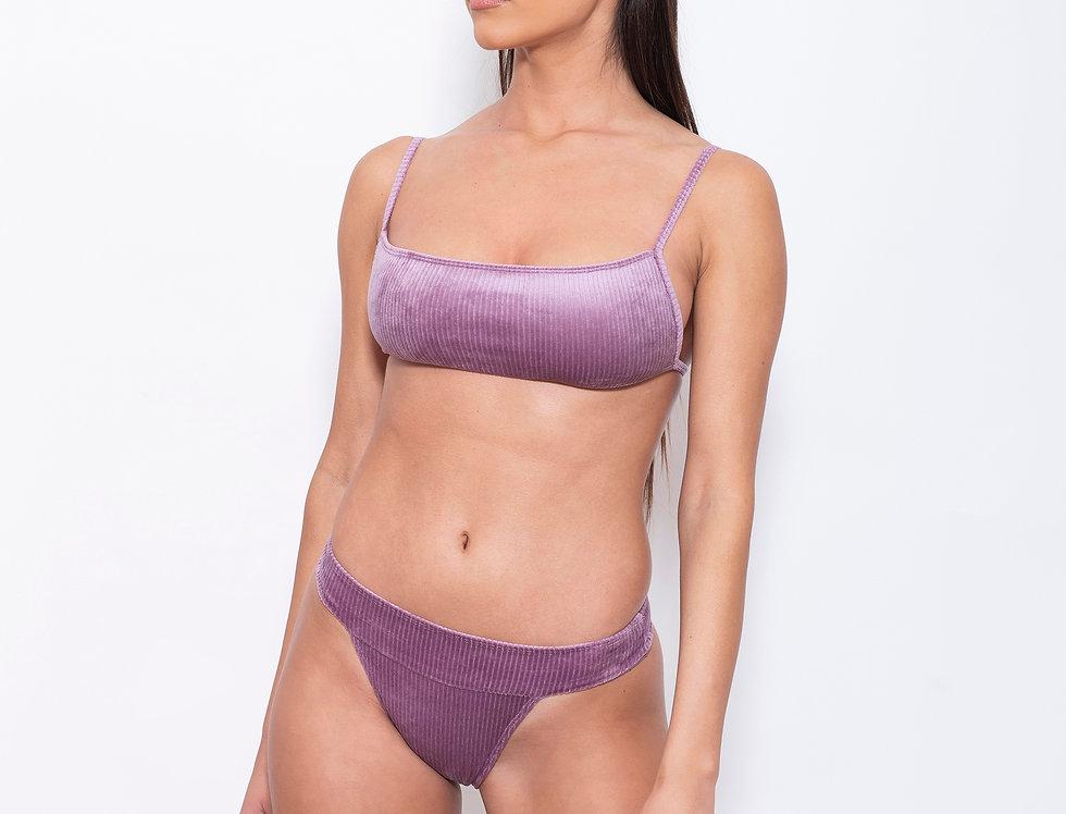 Lilac Velvet K Rectangle Low Rise Bikini